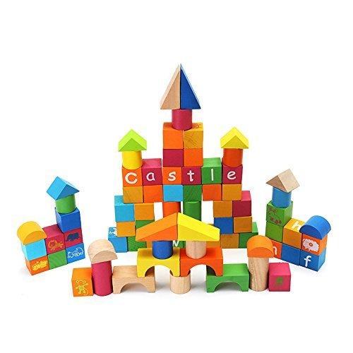 【即納&大特価】 aissimioパックの80pcs Wooden Alphabet Wooden Building BlocksセットBrightly Colored教育for Kids子カラフル B0779XZRM1 Toddlers Kids子カラフル B0779XZRM1, キタミシ:c5e0433b --- irlandskayaliteratura.org