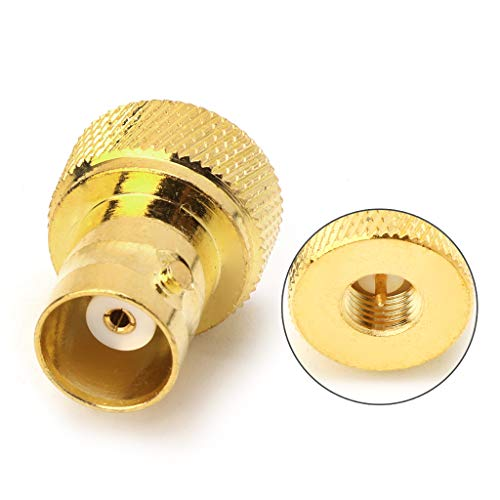 (PoityA BNC Female Jack to SMA Male Plug RF Connector Coaxial Converter Adapter Straight)
