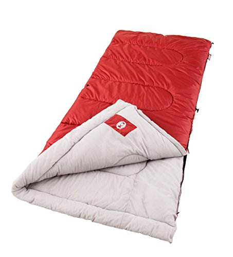 Coleman Palmetto Cool Weather Adult Sleeping Bag (Red Face Cold Weather)