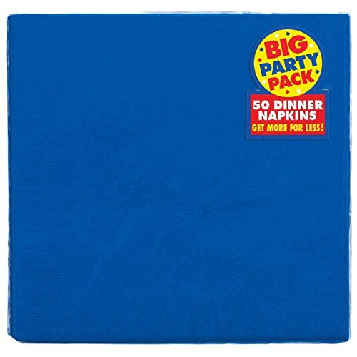 Big Party Pack Festive Dinner Napkins Tableware, Royal Blue, Paper , 7