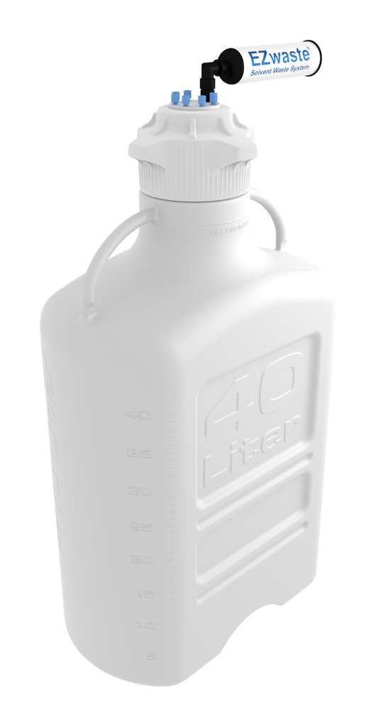 FOXX Life Sciences 332-5712-OEM EZwaste Safety Vent, Carboy, HDPE with VersaCap 120mm and EZ Top Adapter, 40 Litre Capacity by Foxx Life Sciences