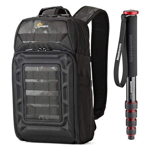 - Lowepro DroneGuard BP 200 Backpack for DJI Mavic Pro/Air Quadcopter with Manfrotto Element 5-Section Red AL Monopod Kit