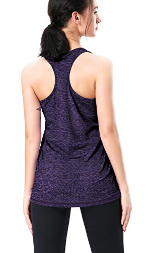 BOBOVON Women Fitness Running Racerback Tank Top Sleeveless Athletic Shirts Quick Dry Workout Clothes