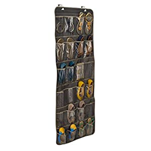 ClosetMaid 31496 24-Pocket Over-the-Door Shoe Organizer, Gray