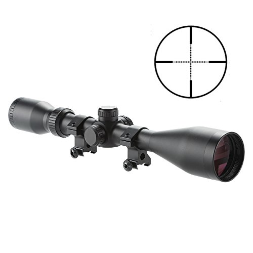 Pinty Pro 4-16X50 Mil-dot Tactical Rifle Scope Optics Optical Scope for Hunting w/Aircraft-Grade Aluminum Alloy Tube Side Focus, Waterproof/Fog Proof