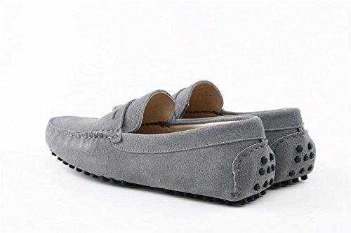 barca caldo Minitoo Grigio casual confortevole mocassino in grigio uomo pelle da scamosciata BpOpUx