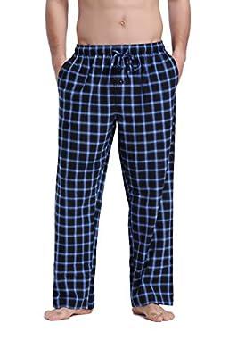 CYZ Men's Premium Quality 100% Cotton Super Soft Flannel Plaid Pajama Pants