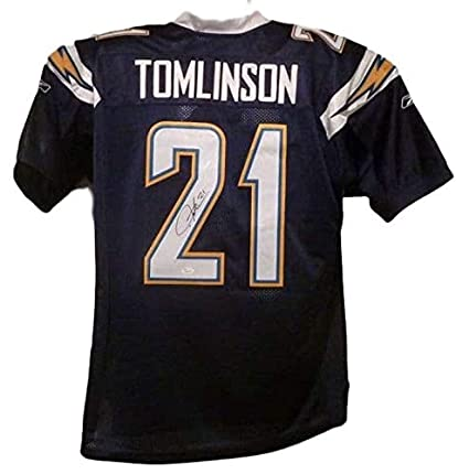Image Unavailable. Image not available for. Color  LaDainian Tomlinson  Autographed Jersey - XL Reebok Blue ... 623c30fd6