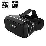 """Tepoinn 3D VR Lunettes de réalité virtuelle Boîte VR 3D avec lentille et sangle de serrage pour iPhone 5 5S 6 PLUS Samsung S3 Edge Note 4 3,5-5,5"""" Smartphone pour jeux et films 3D"""