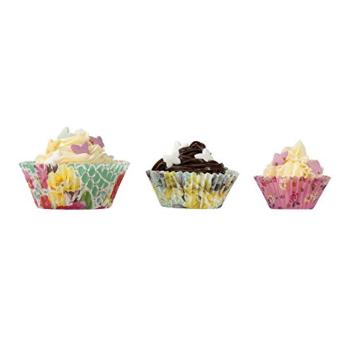 Talking Tables Truly Scrumptious Floral Cupcake Cases for a Tea Party or Birthday, Multicolor (60 Pack) (Cupcakes Party Tea)