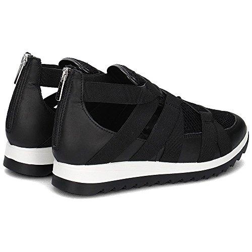 IGI&CO 7770 NERO Scarpa donna sneaker con elastico pelle made in italy