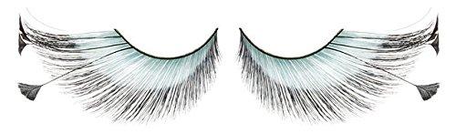 Zinkcolor Mint Blue Feather False Eyelashes F151 Dance Halloween Costume ()