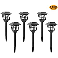 6-Pack Solar Pathway Outdoor Lights for Yard/Patio/Walkway/Driveway/Lawn/decor