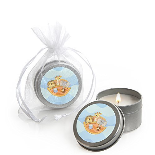 Noah's Ark - Candle Tin Baby Shower Favors - Set of 12