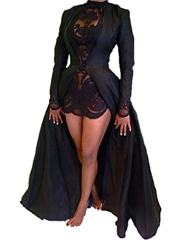 long black mesh prom dress - 1