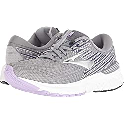 Brooks Women's Adrenaline GTS 19 Grey/Lavender/Navy 13 B US