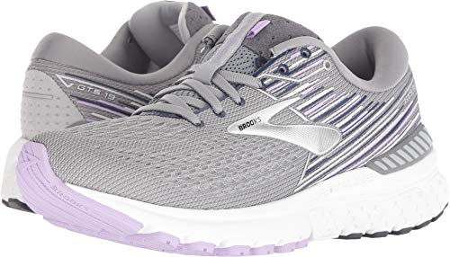 Brooks Women's Adrenaline GTS 19 Grey/Lavender/Navy 8.5 B US