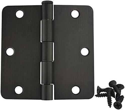 37571 12 Pack Cosmas Oil Rubbed Bronze Door Hinge 3.5 Inch x 3.5 Inch with 1//4 Inch Radius Corners