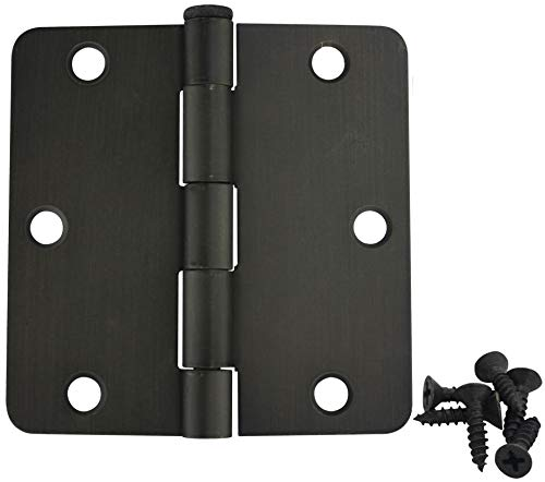 30 Pack - Cosmas Oil Rubbed Bronze Door Hinge 3.5'' Inch x 3.5'' Inch with 1/4'' Inch Radius Corners - 37571