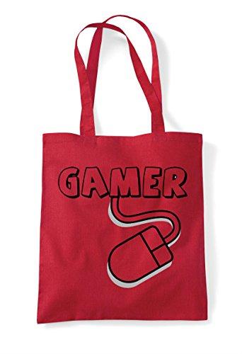 Bag Statement Pc Shopper Tote Gaming Mouse Red Gamer qgUnaTg
