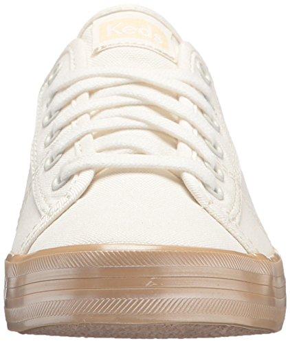 Shimmer Keds Champagne Kickstart Doré Sneakers Women's Crème SSqaExHA