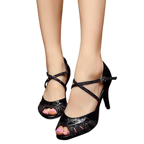 Cxs Ladies Open Toe Tacones De Boda Para Fiestas Zapatos De Baile Para Bailar Salsa De Tango Y Práctica, 3.3 Heel