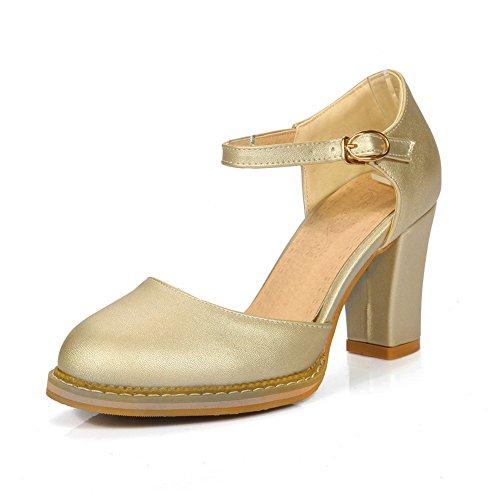 BalaMasa Womens Platform Smooth Leather Pointed-Toe Urethane Sandals ASL04876 Gold lx0MAygdW