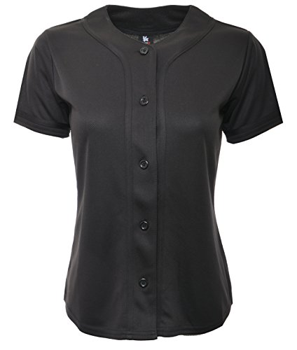 YoungLA Women Baseball Jersey Plain Button Down Shirt Tee 420 – DiZiSports Store