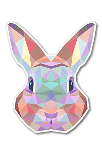 Bunny Triangles Geometric Modern Vinyl Sticker - Car Window Bumper Laptop - SELECT SIZE