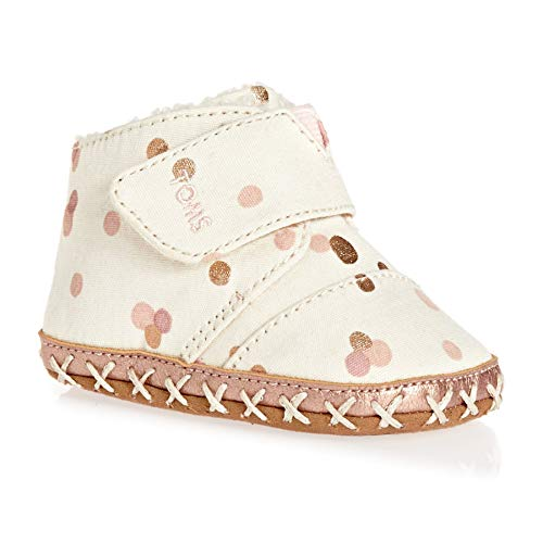 TOMS Kids Baby Girl's Cuna (Infant/Toddler) Pale Blush Party Dots 2 M US Infant - Infant Girls Bootie