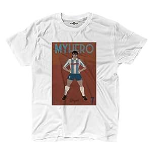 Camiseta camiseta zerostile My Hero futbolista Leyenda Fútbol Pagano Pescara 1, blanco