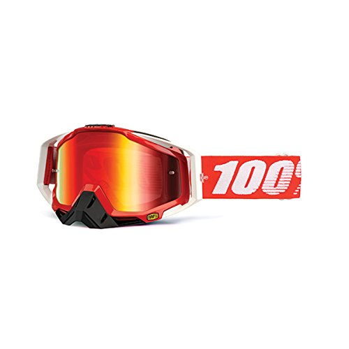 100% unisex-adult Goggle (Fire/Mirror Red,One Size) (RACECRAFT RC FIRE RED Mirror Lens - Florida Sunglasses Wholesale