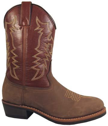 Smoky Mountain Boys' Round Up Waterproof Boot Green 12 D (Muck Tack)