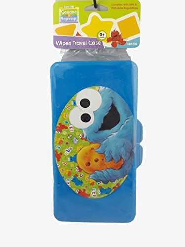 Sesame Street Blue Cookie Monster Baby Wipes Case