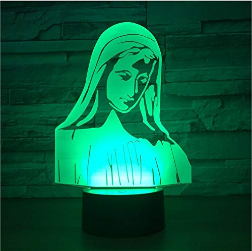 kkkmb Notre Dame Led Night Lamp 3D Colorful Visual Acrylic Table Lamp USB Remote Touch Children's Bedroom Bedside Lamp