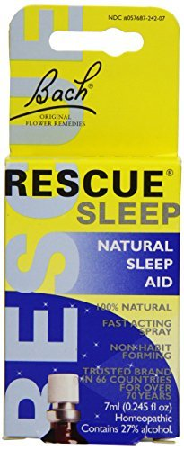 Nelsons Rescue Remedy Sleep Aid, 7 ml, 0.245 Fluid Ounce (Pack of 4 (7 ml ea))
