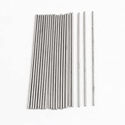 20pcs 50mm x 1mm Silver Tone Stainless S...