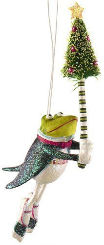 Department 56 Krinkles Frog With Tree Christmas Ornament #35985