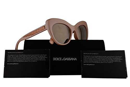 Dolce & Gabbana DG6110 Sunglasses Pearl Pink w/Light Brown Mirror Gold Lens 52mm 30995A DG - Dolce Cheap Sunglasses And Gabbana
