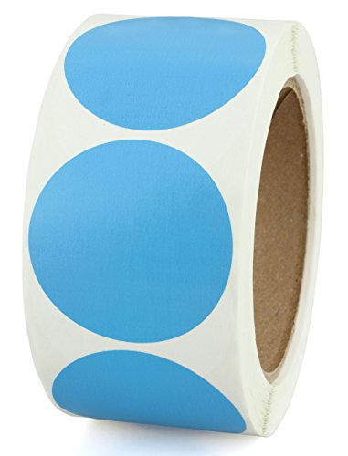 "2"" Blue Color-Coding Dot Sticker Labels 
