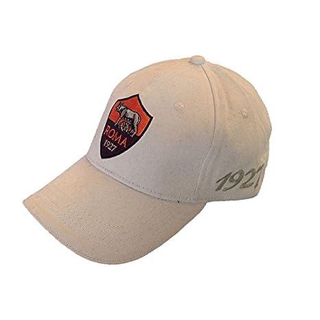 CAPPELLO CAPPELLINO ROMA UFFICIALE BERRETTO CAP bianco con VISIERA ... 75bf479cf6f9