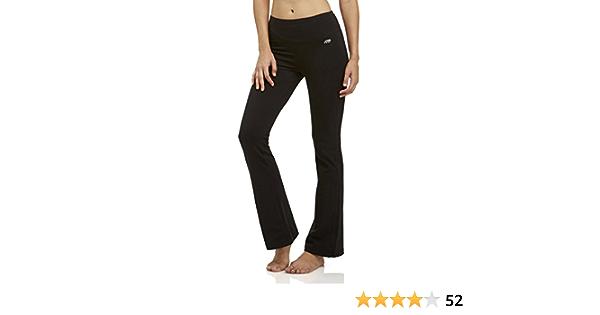 Bootcut Leg Opening Black Marika Women/'s Tummy Control Pants Power Mesh-Lined