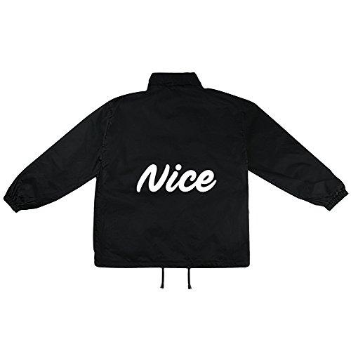 Nice Motiv auf Windbreaker, Jacke, Regenjacke, Übergangsjacke, stylisches Modeaccessoire für HERREN, viele Sprüche und Designs