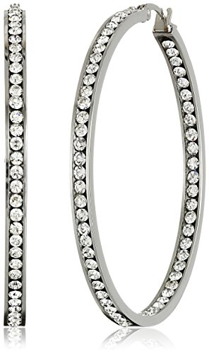crystal hoop earrings - 2