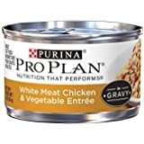 Purina Pro Plan Wet Cat Food, Savor, Adult White Meat Chicken and Vegetable EntrÃÂe, 3-Ounce Can, Pack of 24 by Purina Pro Plan