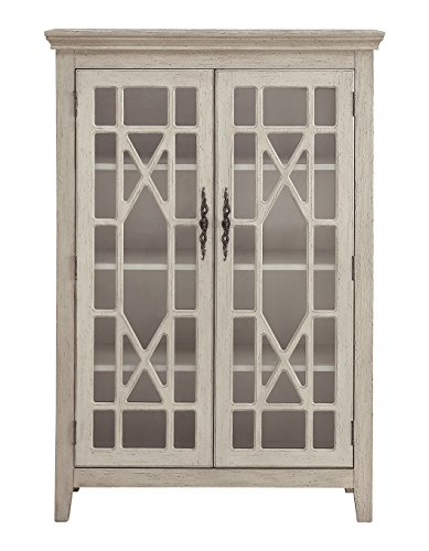 (Treasure Trove 17330 Two Door Bookcase, Ivory )
