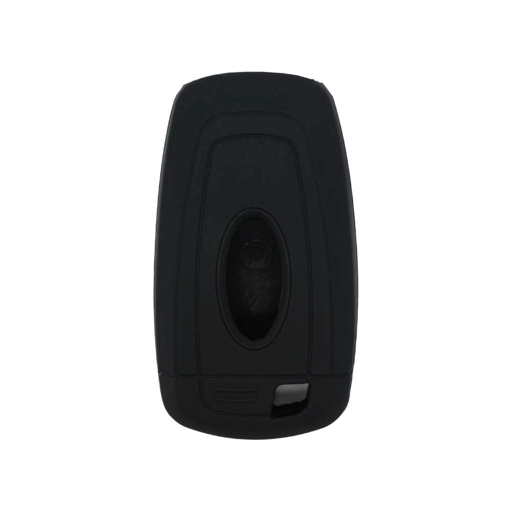 SEGADEN Silicone Cover Protector Case Skin Jacket fit for FORD 5 Button Smart Remote Key Fob CV4711 Black