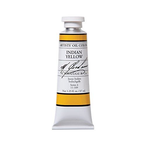 M. Graham Artist Oil Paint Indian Yellow 1.25oz/37ml Tube ()