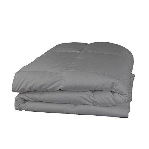 (Relaxare Queen XL 400TC 100% Egyptian Cotton Silver Grey Solid 1PCs Comforter Solid- Ultra Soft Breathable Premium Fabric)
