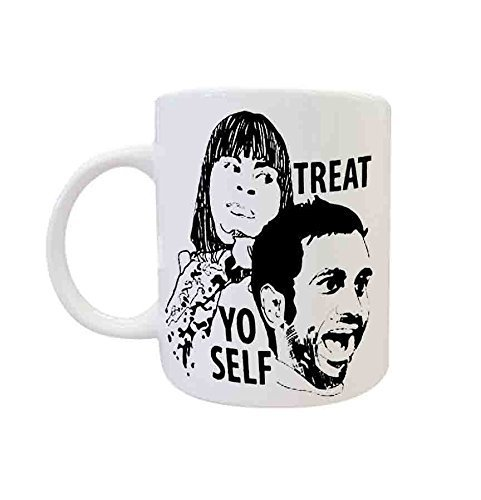 Treat Yo Self Mya Coffee Coffe Mug , Custom Mug, Personalised Photo Mug, Unique Gift by DK ()